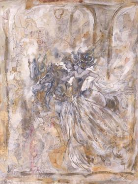 Two Racing on Horses by Marta Gottfried