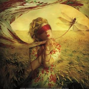 Lady with Dragonfly by Marta Orlowska