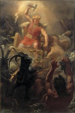 Thor's Fight with the Giants, 1872 by Marten Eskil Winge