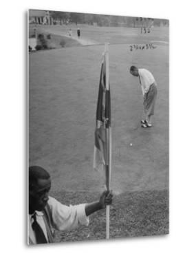Bobby Locke Playing Golf by Martha Holmes