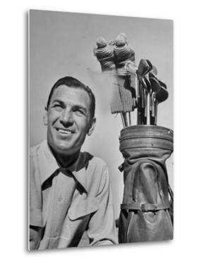 Golfer Ben Hogan with Golf Bag by Martha Holmes