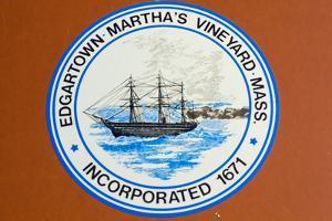 Marthas Vineyard Edgartown Official Town Sign Photo Poster Print