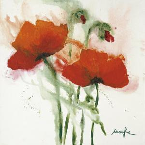 Poppies in the Wind II by Marthe