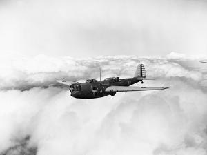 Martin B-10 Bomber Flying