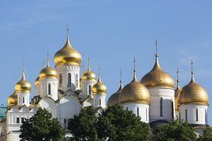Cathedral of the Annunciation in the Kremlin, UNESCO World Heritage Site, Moscow, Russia, Europe by Martin Child