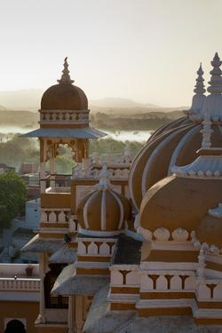 Domes of Deogarh Mahal Palace Hotel at Dawn, Deogarh, Rajasthan, India, Asia by Martin Child