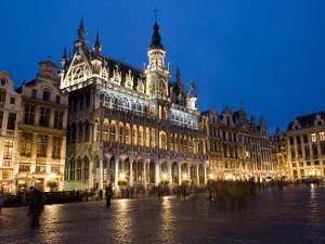 Evening, Musee De La Ville De Bruxelles, Grand Place, Brussels, Belgium, Europe by Martin Child