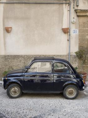 Fiat 500 Car, Cefalu, Sicily, Italy, Europe by Martin Child