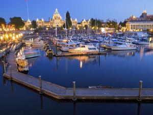 Inner Harbour with Parliament Building, Victoria, Vancouver Island, British Columbia, Canada, North by Martin Child