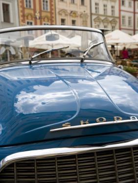 Old Blue Skoda Car, Old Town, Prague, Czech Republic, Europe by Martin Child