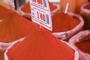 Paprika for Sale, Mercado Central (Central Market), Valencia by Martin Child