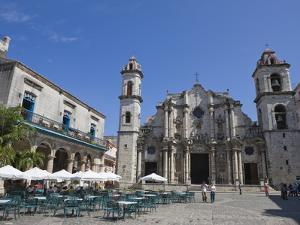 Plaza De La Catedral With Cathedral, Old Havana, Cuba, West Indies, Central America by Martin Child