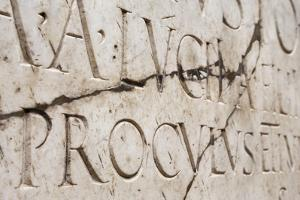Roman Lettering in Herculaneum, UNESCO World Heritage Site, Campania, Italy, Europe by Martin Child
