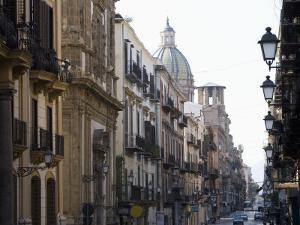 Street Scene, Palermo, Sicily, Italy, Europe by Martin Child