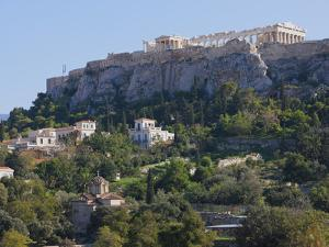 The Acropolis from Ancient Agora, UNESCO World Heritage Site, Athens, Greece, Europe by Martin Child