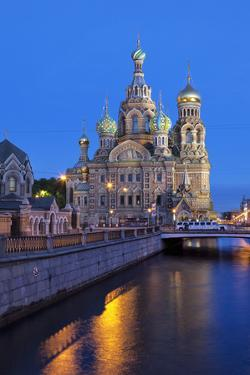 The Church on Spilled Blood, UNESCO Site, on Kanal Griboedova, St. Petersburg, Russia by Martin Child