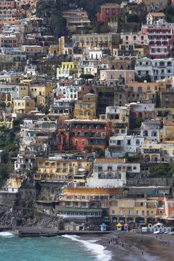The Colourful Town of Positano Perched by Martin Child