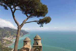 The Twin Domes of San Pantaleone Church from Villa Rofolo in Ravello by Martin Child