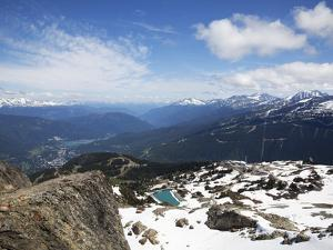 View from the Top of Whistler Mountain, Whistler, British Columbia, Canada, North America by Martin Child
