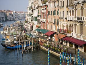 View of Grand Canal and Riva Del Vin from Rialto Bridge, Venice, Veneto, Italy by Martin Child