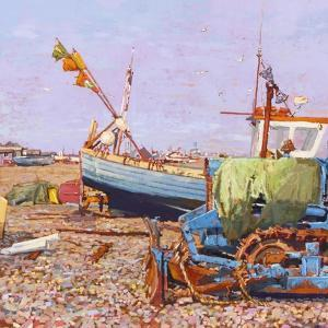 Clear Blue Day (Aldeburgh Beach) 2006 by Martin Decent