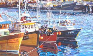 Harbour Moorings, 2010 by Martin Decent