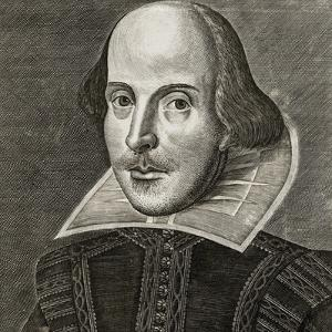 Portrait of William Shakespeare by Martin Droeshout, 1623 by Martin Droeshout  the Elder