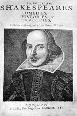 William Shakespeare, English Playwright, 1623 by Martin Droeshout