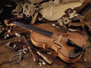 Violin and Tools by Martin Fox