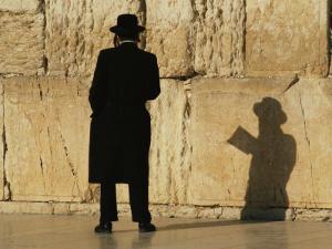 Hasidic Jew Prays at the Wailing Wall by Martin Gray
