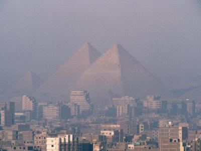 Pyramids at Giza and Cairo in the Foreground