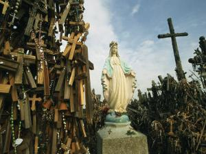 Statue of Mary on the Hill of Crosses by Martin Gray
