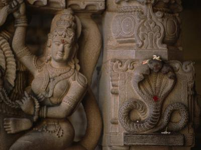 Stone Carvings of the Goddess Shakti and the Serpent Form of Shiva