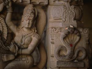Stone Carvings of the Goddess Shakti and the Serpent Form of Shiva by Martin Gray