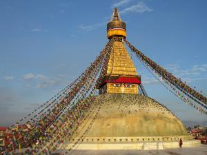 The Bodhnath Stupa in Kathmandu by Martin Gray