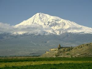 View of Mt. Ararat and the Monastery of Khor Virap by Martin Gray