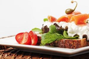 Open Faced Salmon and Cottage Cheese Sandwich by Martin Harvey