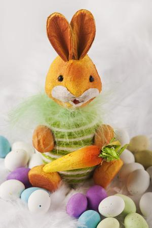 Toy Bunny with Candy Eggs