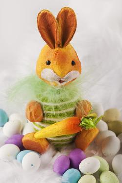 Toy Bunny with Candy Eggs by Martin Harvey