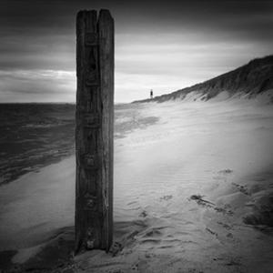 Post & Lighthouse by Martin Henson