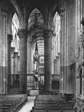 Interior of Rouen Cathedral, France, 1937 by Martin Hurlimann