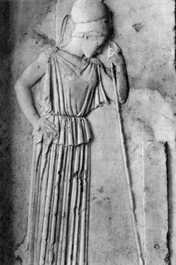 Relief of Athena and Minerva, 5th Century Bc by Martin Hurlimann