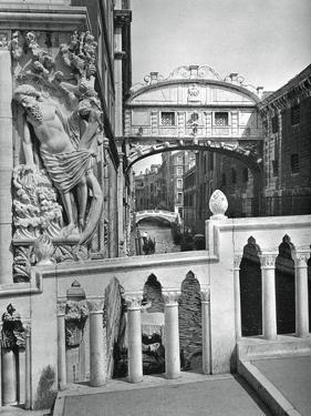 The Bridge of Sighs and Doge's Palace, Venice, 1937 by Martin Hurlimann