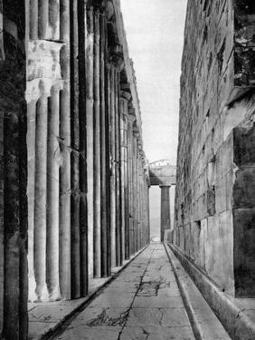 The North Side of the Parthenon, Athens, 1937 by Martin Hurlimann
