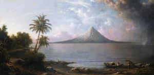 Omotepe Volcano, Nicaragua, 1867 by Martin Johnson Heade