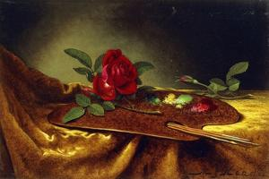 Roses on a Palette, 1880's by Martin Johnson Heade
