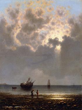 Sun Breaking Through the Clouds by Martin Johnson Heade