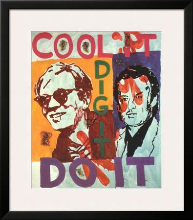 Untitled , Heavy Burschi with Warhol, c.1989-90 by Martin Kippenberger