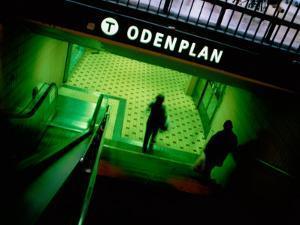 Passengers Entering Odenplan Metro Train Station, Stockholm, Sweden by Martin Lladó
