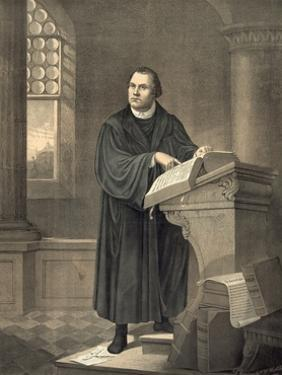 Martin Luther in His Study